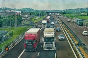 highway road trucks vehicles